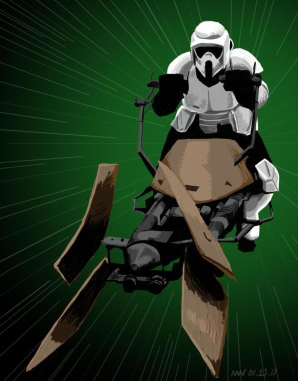 Star Wars fan art Scout Trooper