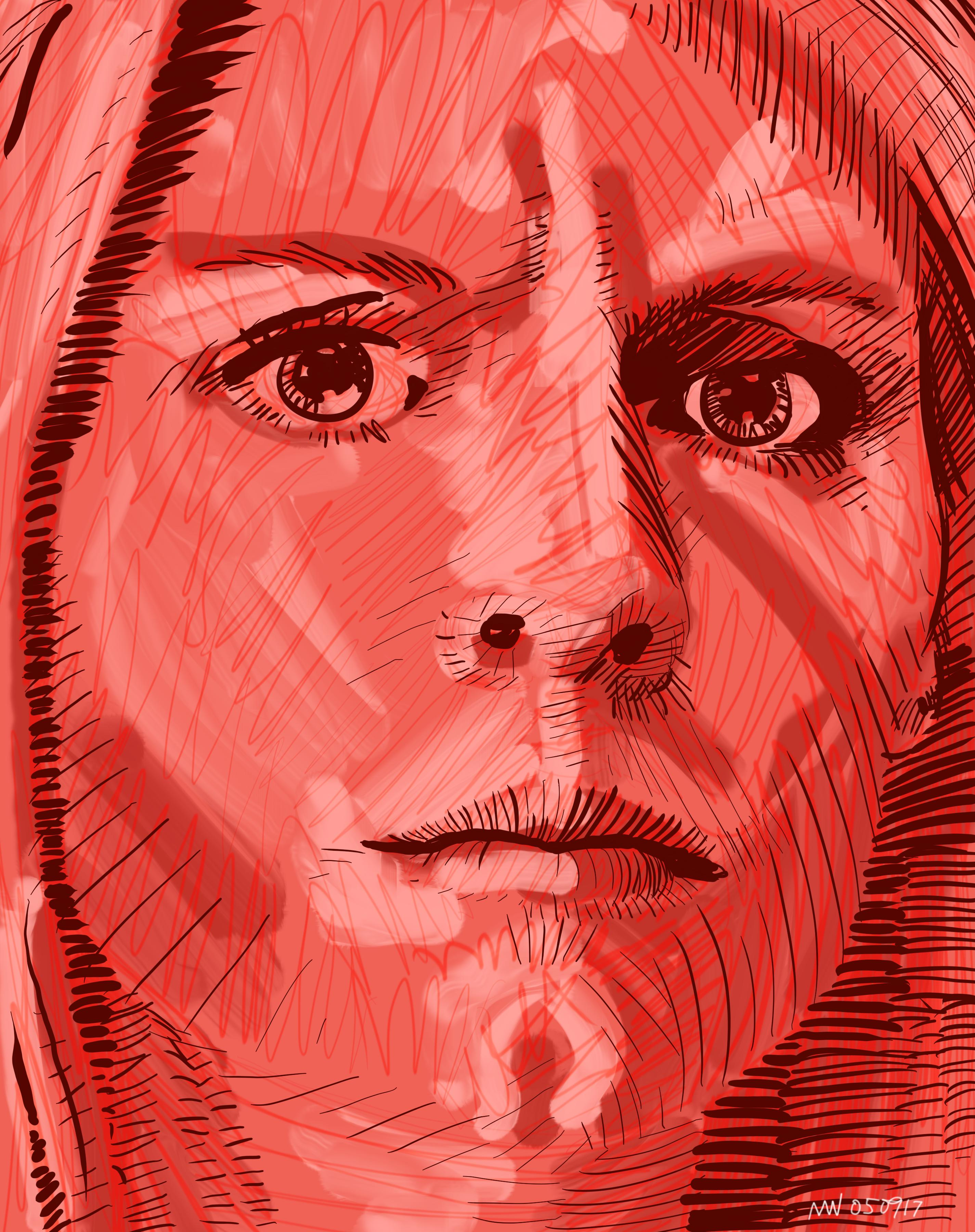 Homeland Carrie Matheson portrait art