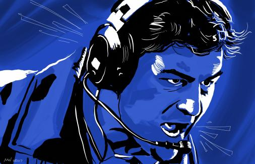 Friday Night Lights Coach Taylor portrait art