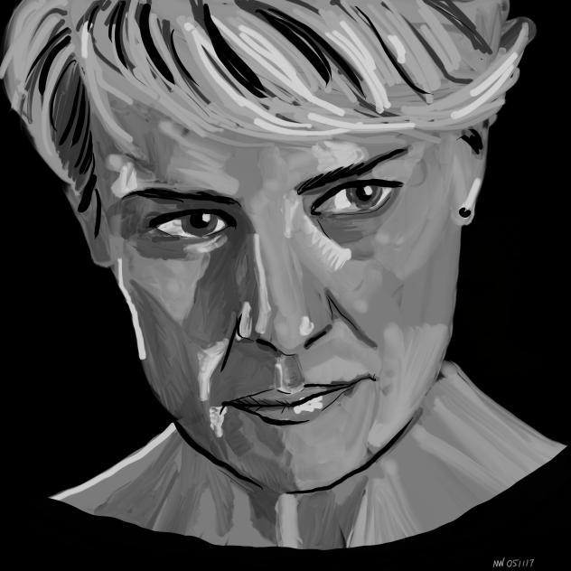 Claire Underwood portrait