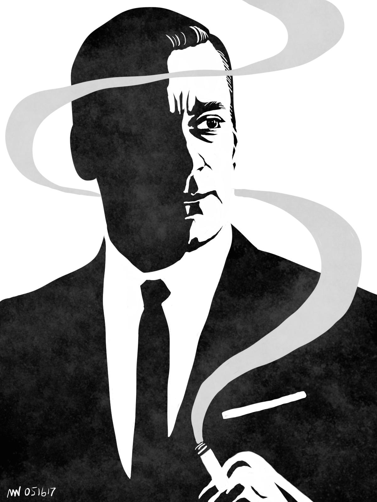 Mad Men Don Draper portrait art