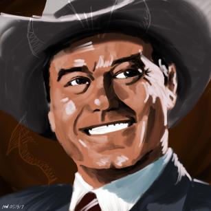 JR Ewing Dallas Portrait