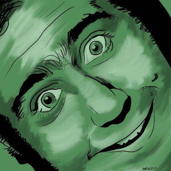 Latka Andy Kaufman Portrait Art