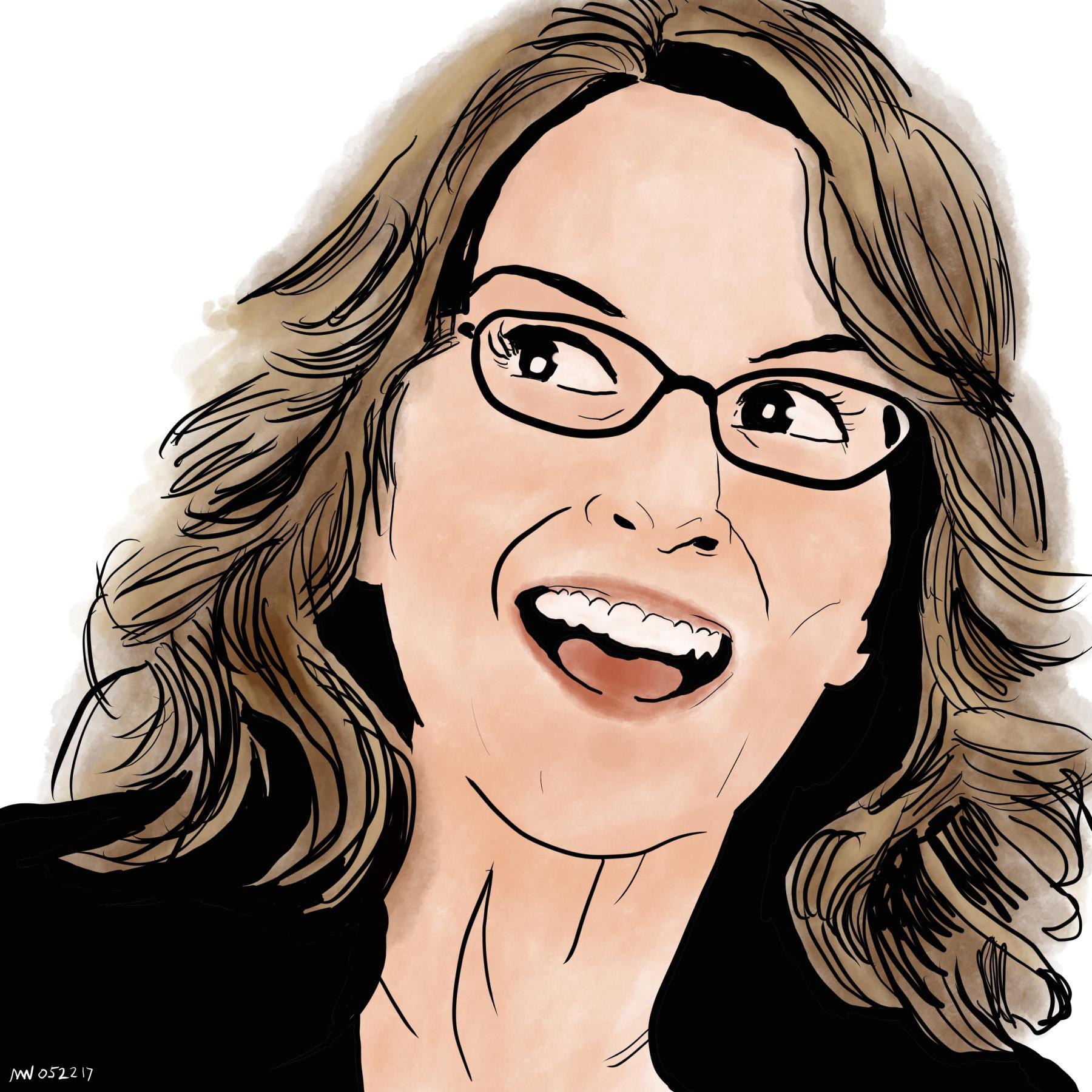 Liz Lemon Tina Fey Portrait