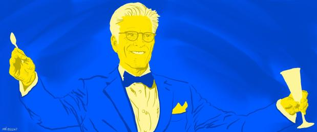 Michael The Good Place Portrait Art