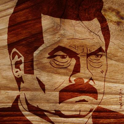 Ron Swanson Parks and Rec Portrait