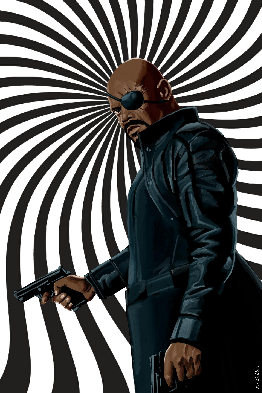 MCU Nick Fury Shield